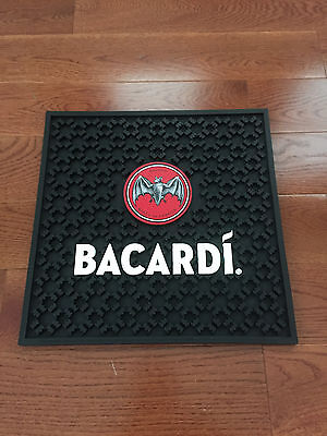"BRAND NEW BACARDI RUM HEAVY DUTY RUBBER BAT MAT 17"" X 17"""