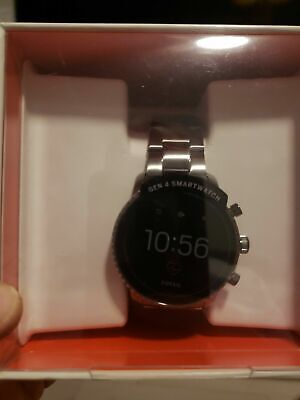 Fossil Men's Gen 4 Explorist HR Smoke Gray Touchscreen Smartwatch FTW4012