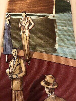 History of 1920s Men's Ties, Neckties, Bowties Polo Ralph Lauren Men's Tie Features a 1920's Style scene  $30.00 AT vintagedancer.com