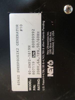 Ney Electronics Inc Sweepsonic 2 40khz Ultrasonic Generator