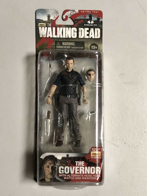 The Governor Walking Dead Series 4 McFarlane Figure Collector Condition New Rare