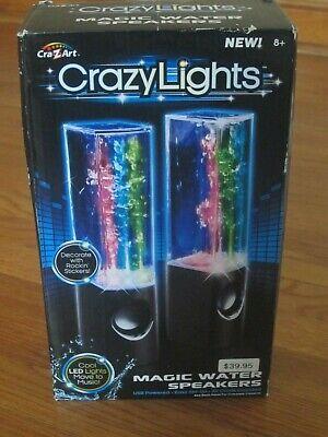 Cra-Z-Art CRAZY LIGHTS USB Magic Water Speakers Black