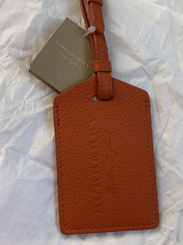 Burberry Bag Luggage Tag Travel ID Genuine Leather Made Italy For Bag NEW 225 - $69.00
