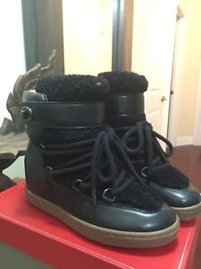 Coach real shearling boots / shoes