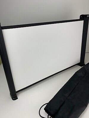 Used 3m Table Top Portable Expandable Projector Screen With Bag Great Condition