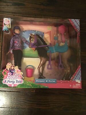 Barbie & Her Sisters In A Pony Tale NIB Skipper & Horse Doll Playset