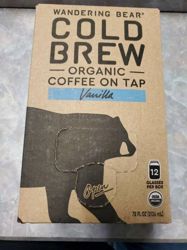 Wandering Bear Extra Strong Organic Cold Brew Coffee On Tap Vanilla 72 fl oz