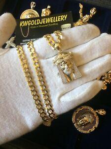 TOP QUALITY 10K GOLD CHAINS AND PENDANT WHOLE SALE PRICES