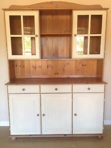 IKEA pine cabinet with drawers and glass door display Fig Tree Pocket Brisbane North West Preview