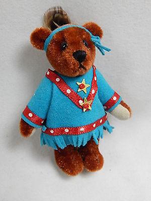 "World of Miniature Bears 2.5"" Plush Bear Nita Blue #5007 Collectible Bear"