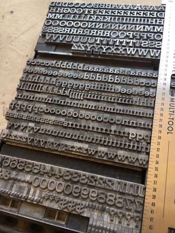 24 PT ROCKWELL ANTIQUE - Letterpress Metal Type - Uppers/Lowers/Figs