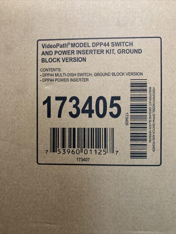 NEW DISH NETWORK DPP44 SWITCH AND POWER INSERTER KIT GROUND BLOCK VERS. 173405