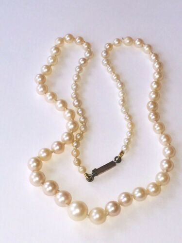 vintage necklace cream colour cultured pearls