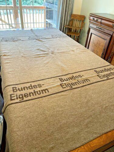 VTG 1959 West German Wool Survival Blanket Bundes-Eigentum FEDERAL PROPERTY Grey
