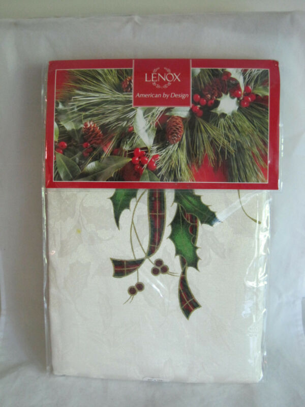 Lenox Holiday Nouveau Christmas Tablecloth 60 x 104 Oblong New