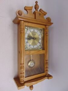 Vintage Decorative TIMEMASTER Quartz Westminster Chime Pendulum WALL CLOCK - W77