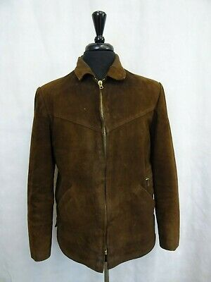 Men's Vintage Leather/Suede 1960's Workwear Sports Jacket 42R (M)