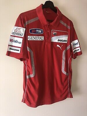 Ducati Moto GP Team Polo Shirt Red Size M Puma