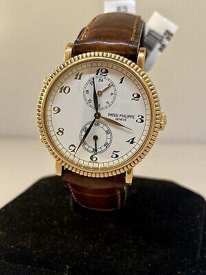 Patek Philippe Calatrava Travel Time Rose Gold White Dial Men's Watch 5034R