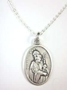 St Patrick Medal Italy Pendant Necklace 20