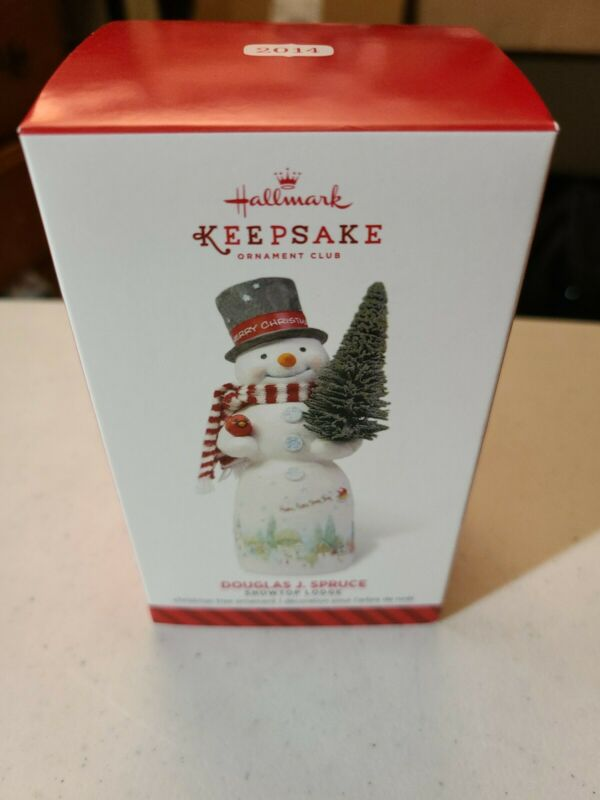 Hallmark 2014 Douglas J. Spruce Snowtop Lodge Series Keepsake Club Ornament NIB