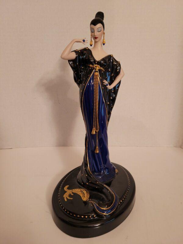 Franklin Mint House of Erte Moonlight Mystique Figurine, Art Deco LE