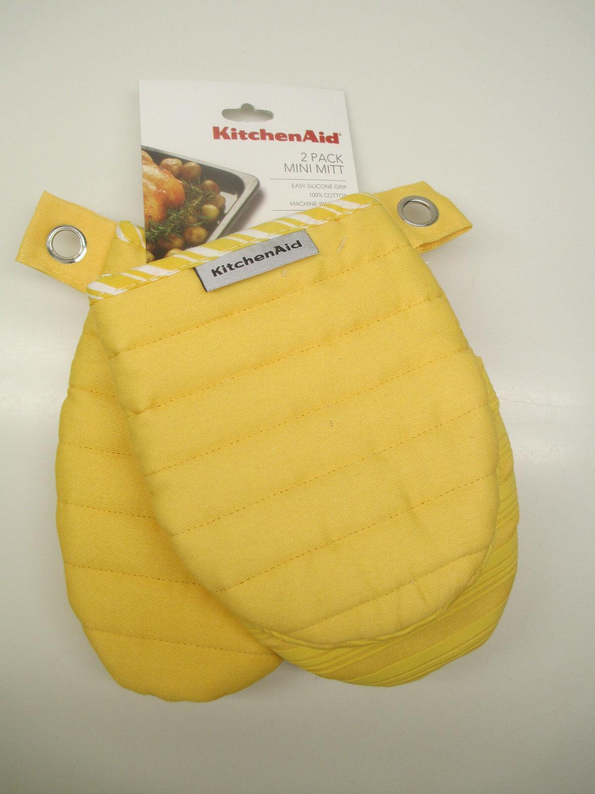 Kitchenaid 2 pack of mini oven mitt mitts choice of color 100 cotton - Kitchenaid oven gloves ...
