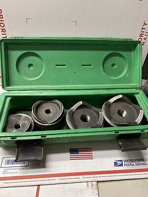 Greenlee 7304 Conduit Knockout Punch Set 2-12 To 4 Pls Read 8219