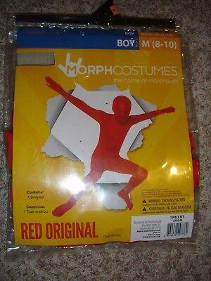 NEW red morph Halloween Costume boys (M) medium 8/10