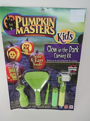 New ! Pumpkin Masters Halloween Glow In the Dark Carving Kit Safe & Easy Tools - Easy Halloween Pumpkin Carving