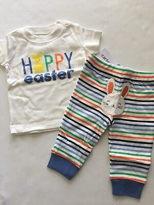 Carters Baby Boy Happy Easter Shirt Pants Set Outfit Size Newborn 3 6 Months