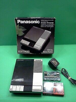 Panasonic Easa Phone KX-T1423 Telephone Answering Machine In Box Vintage