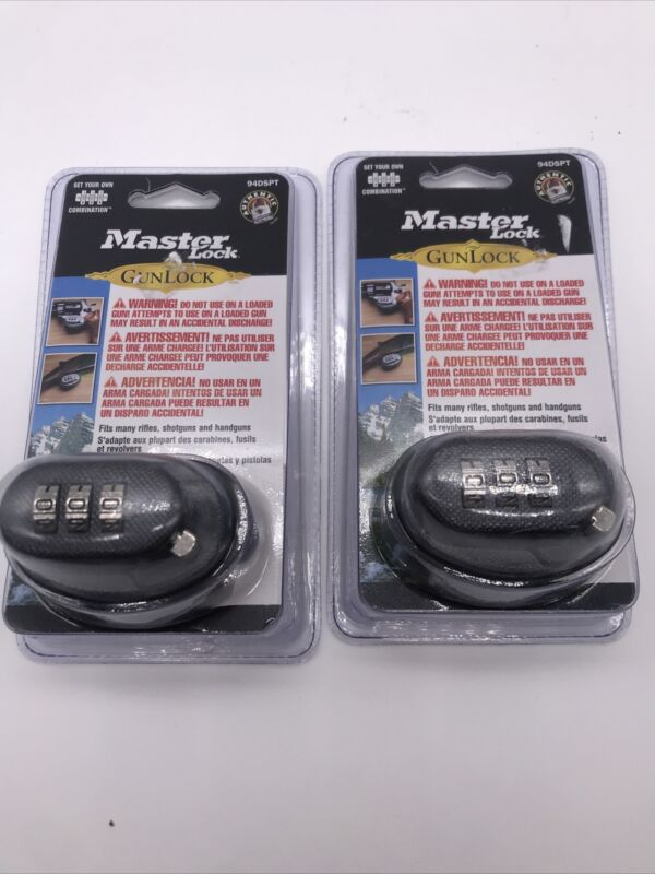Lot of (2) Master Lock 94DSPT Set Your Own Combination Trigger Gun Locks NEW