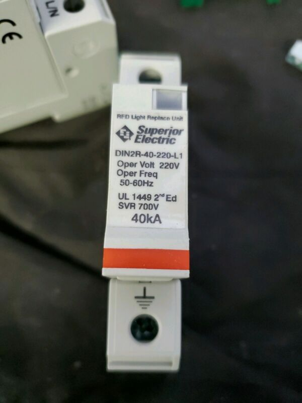 Superior Electric DIN2R-40-220-L1 Surge Protection 220V 40kA rail mount Working