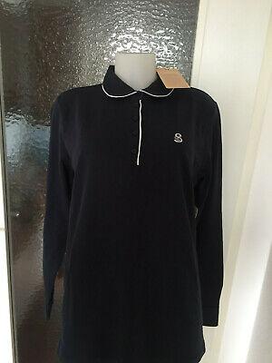 Damen Langarm-Polo-Shirt von STRANDFEIN, Gr.: 48, blau, NEU ! ()