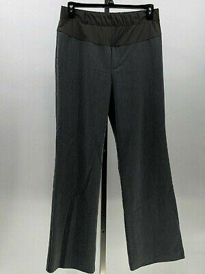 Duo Maternity Pants Stretch Knit Panel Boot Cut Dress Slacks Gray Size M  Duo Maternity Pants
