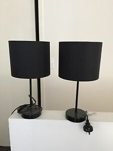 2x plain black lamps Buderim Maroochydore Area Preview