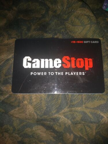 Game Stop Used Collectible Gift Card NO VALUE SV1606473 - $1.88