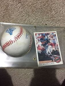 Paul Molitor Signed baseball and card 1993 World Series  Cambridge Kitchener Area image 1