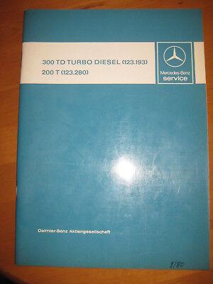 Mercedes Service W 123 - T Modelle - 300 TD Turbodiesel ( 123.193)  - 200 T  gebraucht kaufen  Schorndorf
