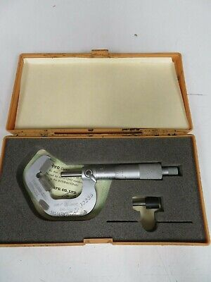 Mitutoyo - Mdl 114-202 - 0.093-1.0001 V-anvil Micrometer W Case - Od7