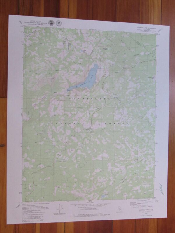 Donnell Lake California 1979 Original Vintage USGS Topo Map