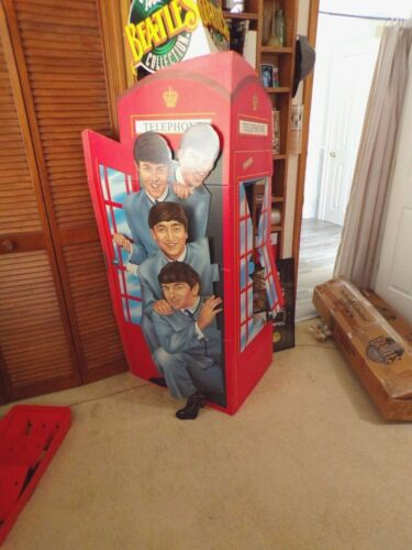 THE BEATLES COLLECTION PHONE BOOTH FLOOR DISPLAY   ORIGINAL BOX