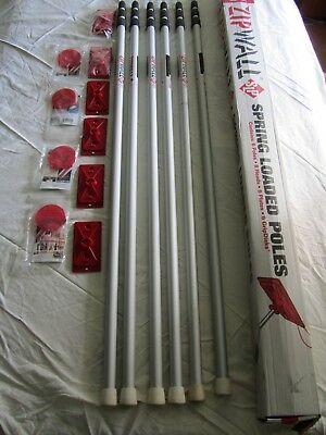 Zip Wall Set 6-- Spring Loaded Poles And Attachments