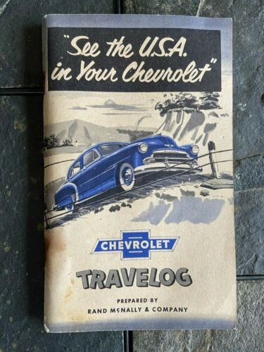 VINTAGE CHEVROLET TRAVELOG 1950 RAND MCNALLY & CO BOOKLET ITEM #4402-15