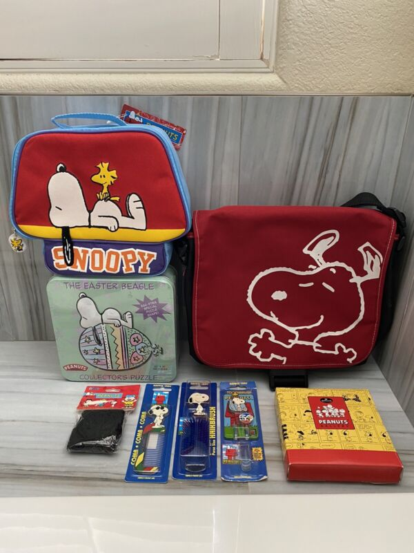 Huge Lot of SNOOPY - PEANUTS items - BRAND NEW