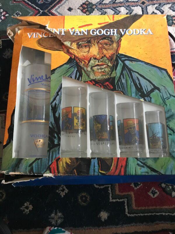 Vincent Van Gogh Vodka Set Glasses W/Box