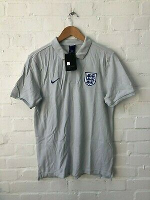 Nike England Football Men's Polo Shirt - Medium - Grey - NWD