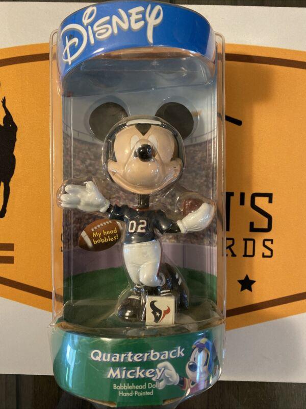 Houston Texans Disney Quarterback Mickey Mouse Hand-Painted Bobblehead