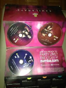Zumba , P90x , insanity original used DVDs missing some 5$ each